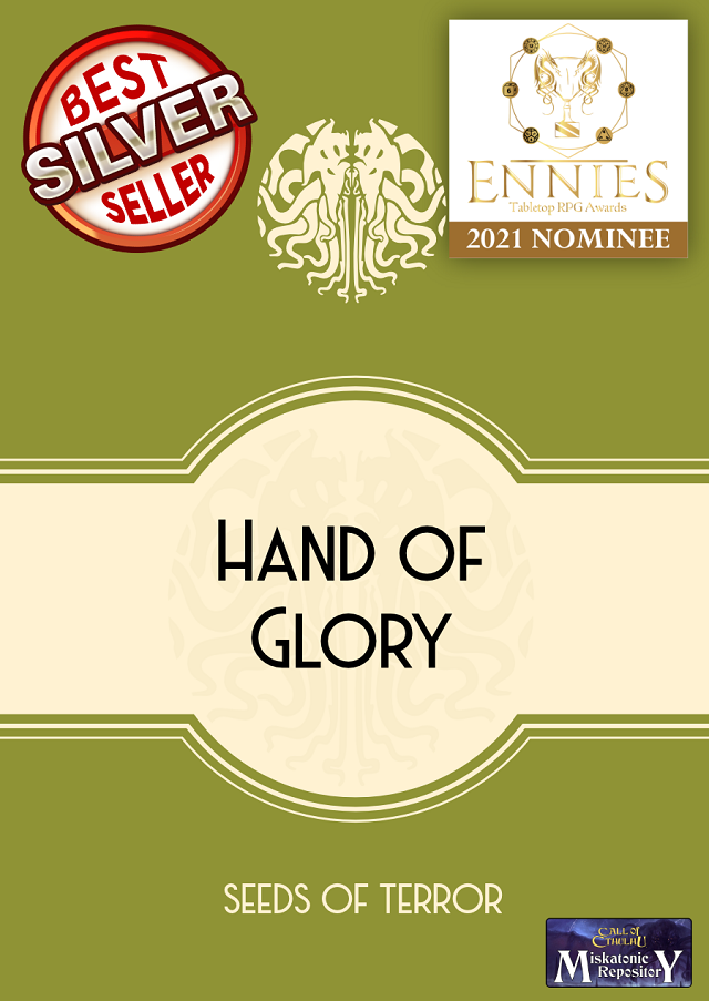 Hand of Glory - ENNIE Nominee