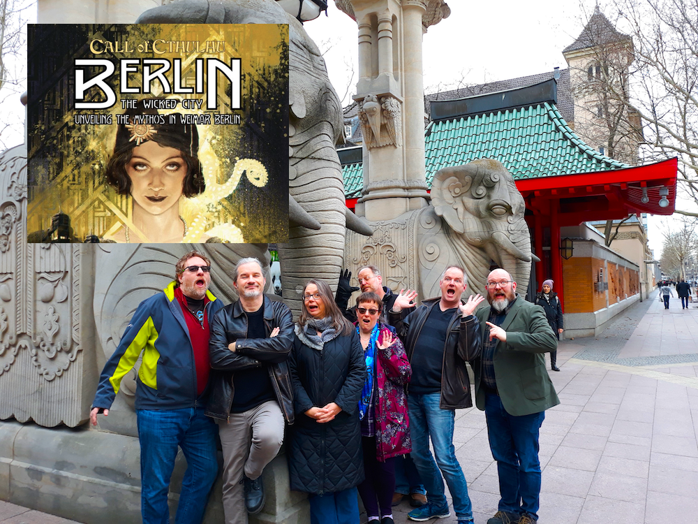 Team Chaosium at the Berlin zoo gates