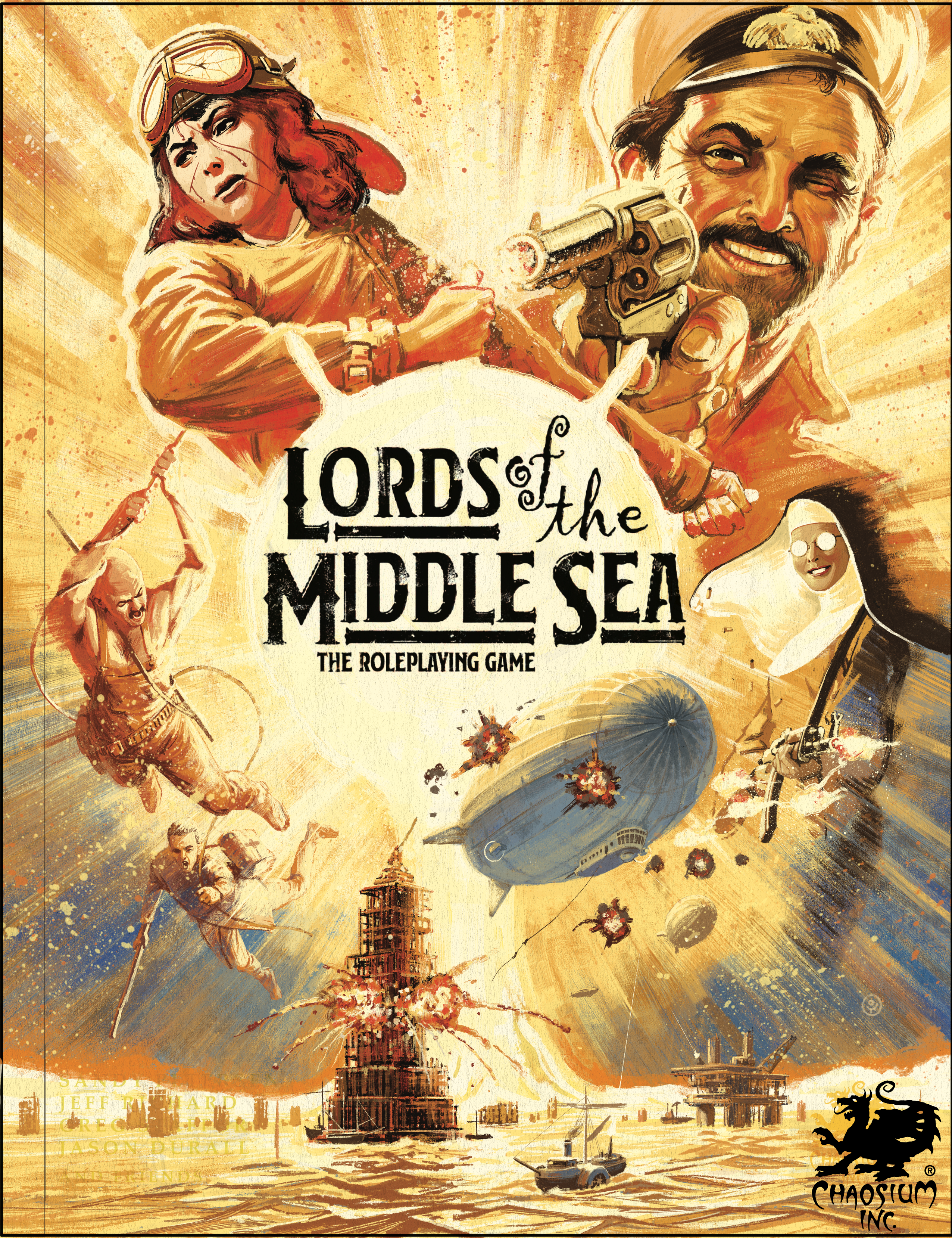 Lords of the Middle Sea RPG cover - work-in-progress by Ossi Hiekkala
