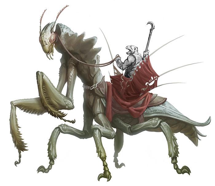 Troll Mantis Rider