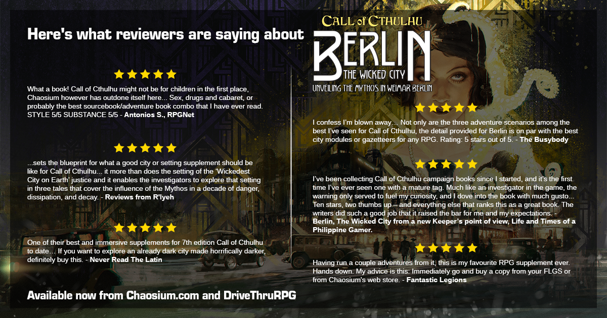 What the critics say about Berlin the Wicked City