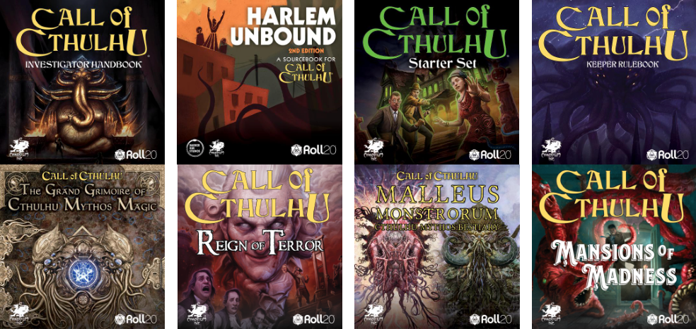 Roll20 Call of Cthulhu Titles