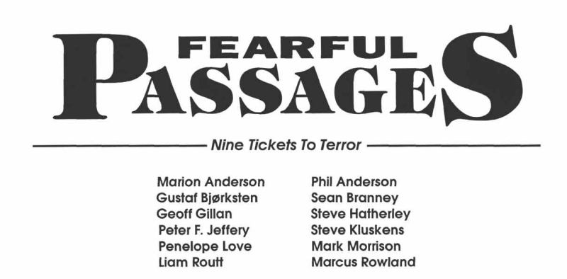 Fearful Passages Credits