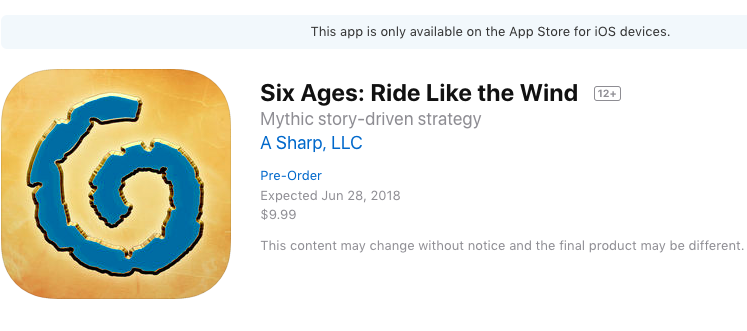 Six Ages Preorders