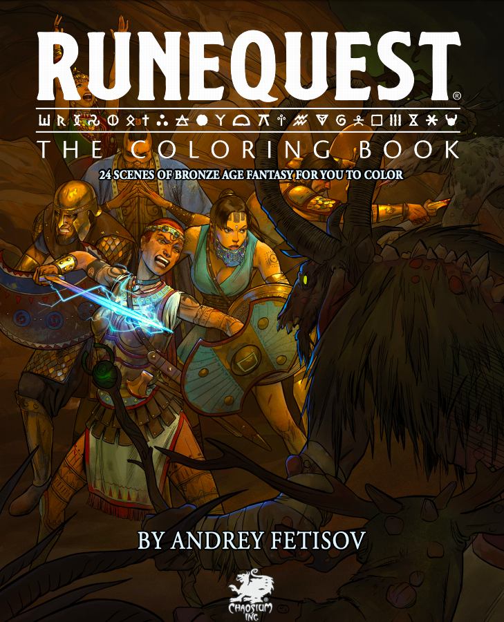 - More Coloring Fun At Home: Chaosium Releases RuneQuest The Coloring Book As  A Free Download - Chaosium Inc.
