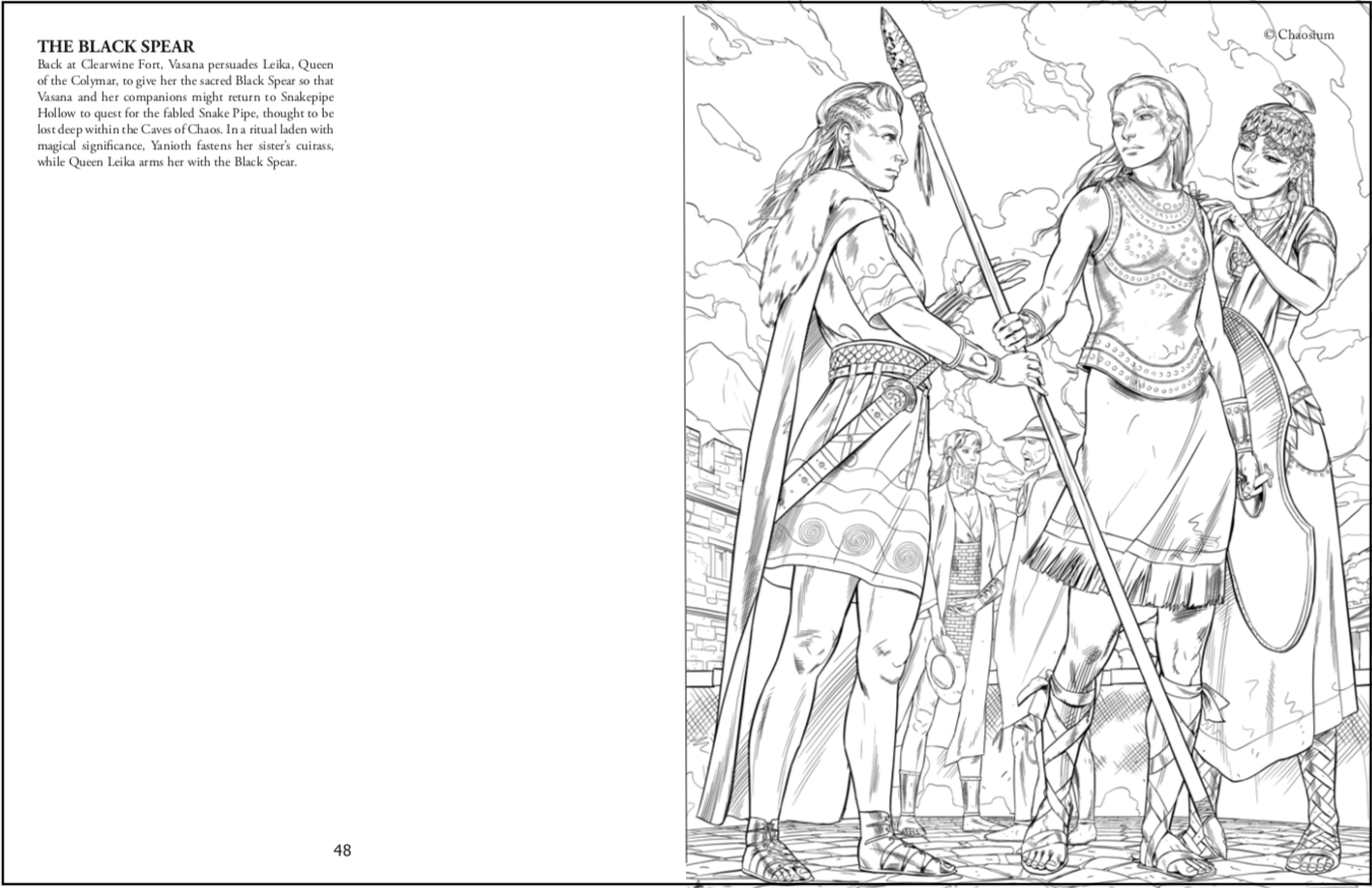 Detail from RuneQuest the Coloring Book